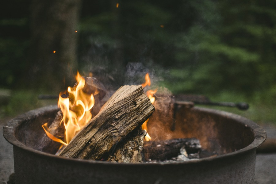 Image of a burning wood. But Can You Burn Pressure Treated Wood?
