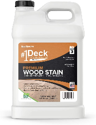 Image of a deck premium, the wood stain for new deck