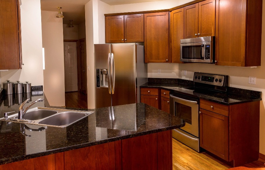 Image of kitchen cabinets