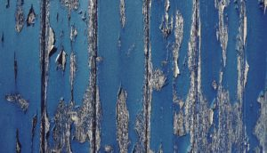 Image of peeling wood paint but Can I Use Concrete Paint On Wood?