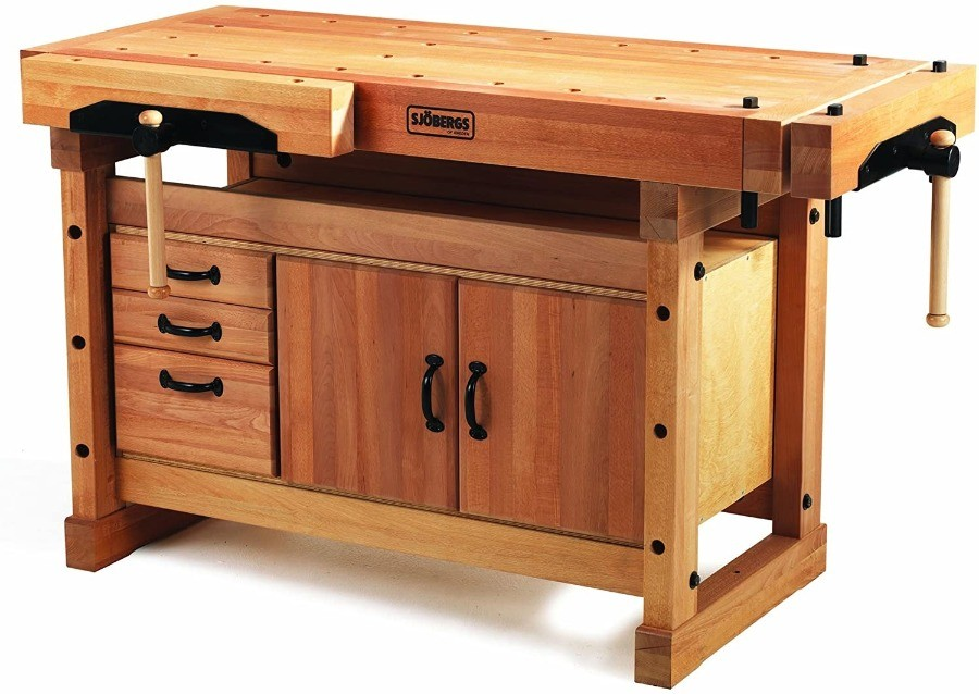 Image of Sjobergs Elite 1500 Workbench Plus Cabinet Combo, the best woodworking bench