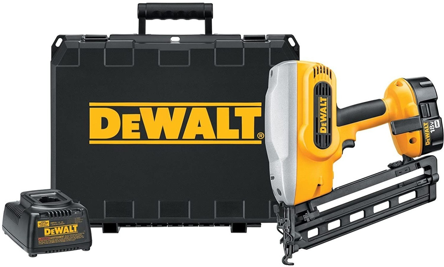 Image of DEWALT DC618K, one of the best nail guns for trim