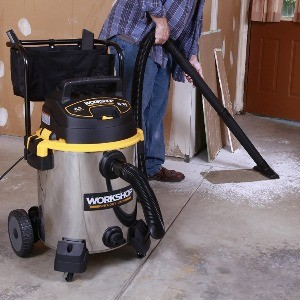 image of the best shop vac for woodworking in use