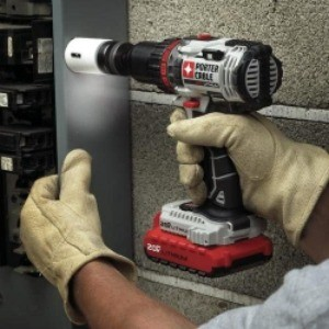 Image of porter cable in use, the best drill for woodworking