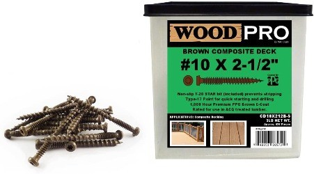 Image of woodpro, one of the best composite deck screws