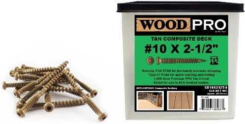 WoodPro, composite deck screw