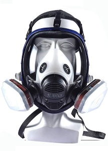 Image of a reusable face mask for woodworking