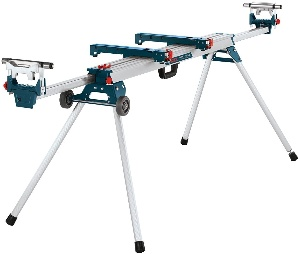 A Bosch miter saw stand for woodworking