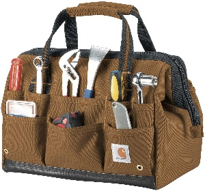 A woodworking tool bag