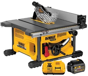 Image of a cordless table saw for woodworking