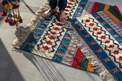 Image of a deck rug