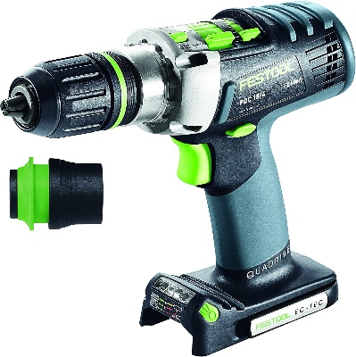 Cordless drill for woodworking