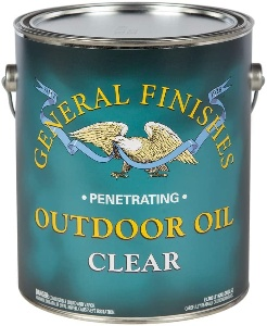 Wood furniture oil for outdoor furniture