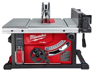 Image of a Milwaukee cordless table saw