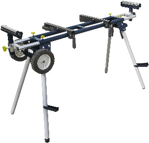 Image of a miter saw stand with wheels