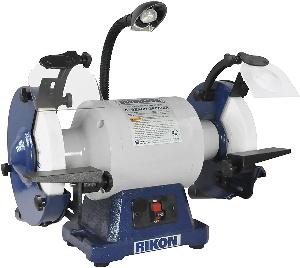 A slow speed bench grinder