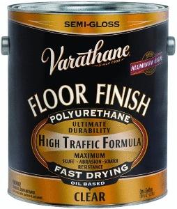 Image of an oil based polyurethane for hardwood floor finishing