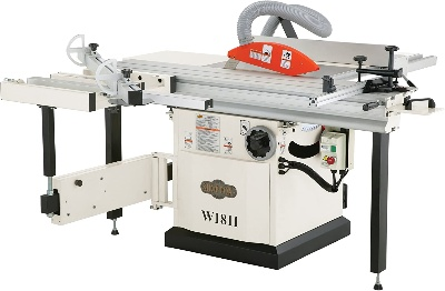 Shop Fox sliding table saw for woodworking