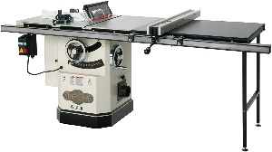 Image of shop fox cabinet table saw