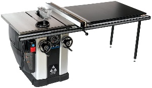 A cabinet table saw by Delta
