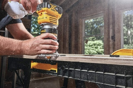 Image of woodworkier using the Best Cordless Router for Woodworking
