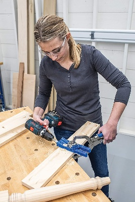 Image of the Best Pocket Hole Jig for Beginners in use
