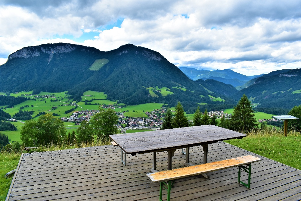 Image of outdoor wood table coated with the Best Finish for Outdoor Wood Table