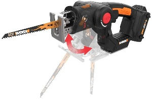 Image of a cordless reciprocating saw