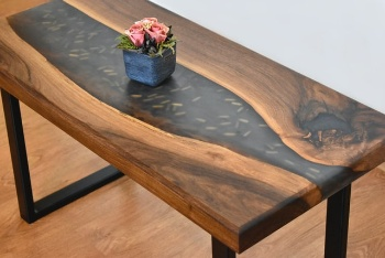 Image of epoxy table but Can You Put Epoxy Resin Over Varnish?